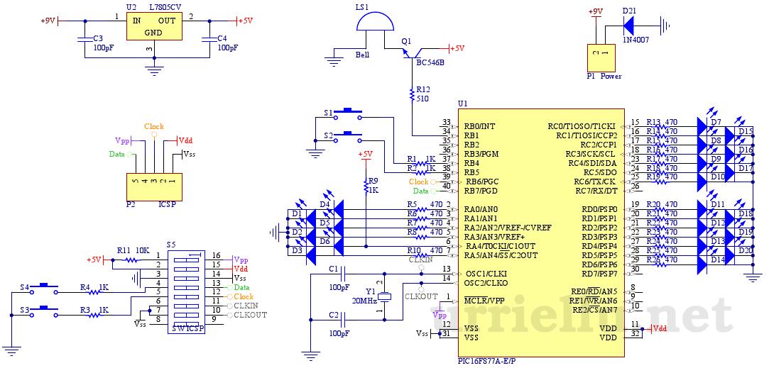 Clk 179 Reloj Despertador Binario Con Carcasa De Aluminio