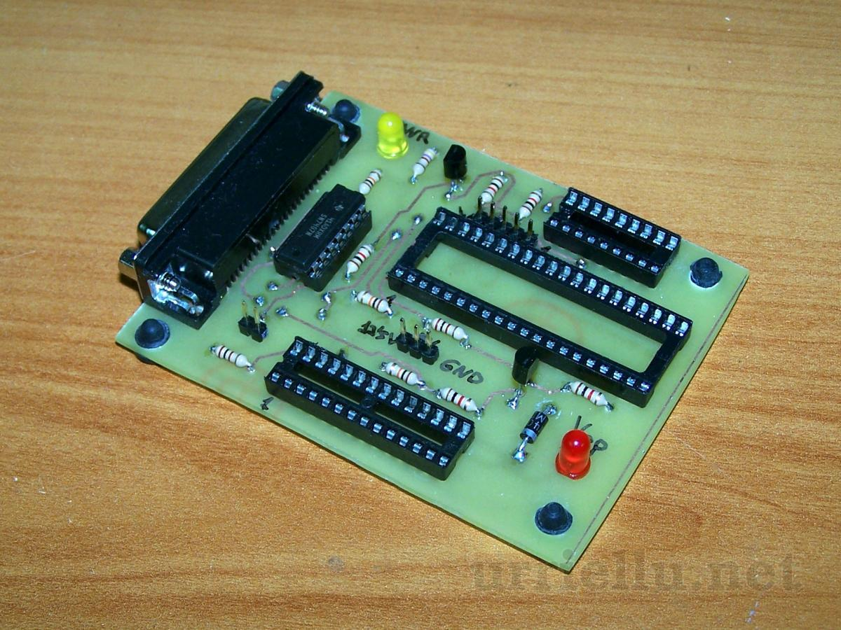 Picprog Pic Programmer By Parallel Port Circuits Icsp In Circuit Serial Programming Board Based On Pic16f84 Pcb