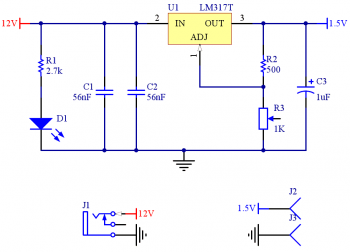 voltage regulator electronic schematic