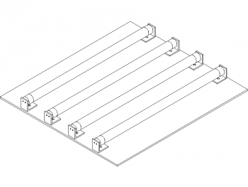 lightbox CAD schematic, general view