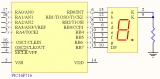 Sample schematic for interfacing a seven-segment display using Pigmeo